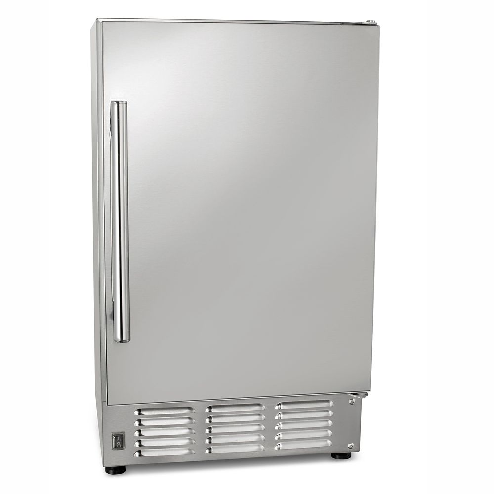 Maxx Ice 14 inch Freestanding Outdoor Ice Maker with 12 lb Ice Storage