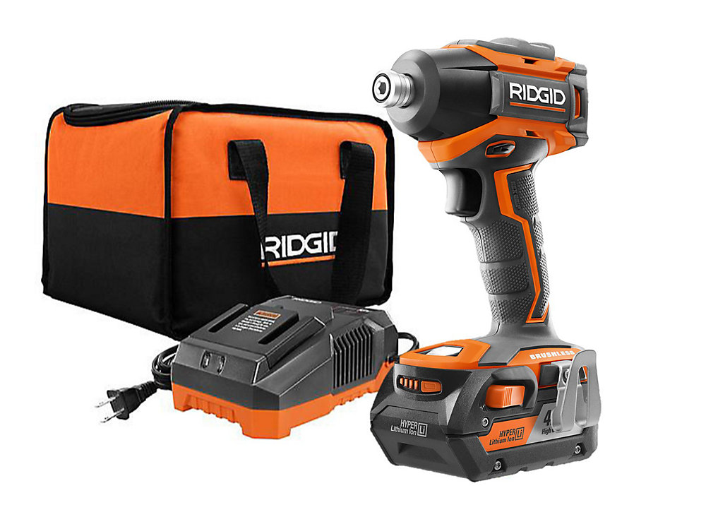 18V Brushless Impact Driver Kit with 4.0 Ah Battery and Charger