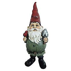 Angelo Décor Statue gnome de fleurs