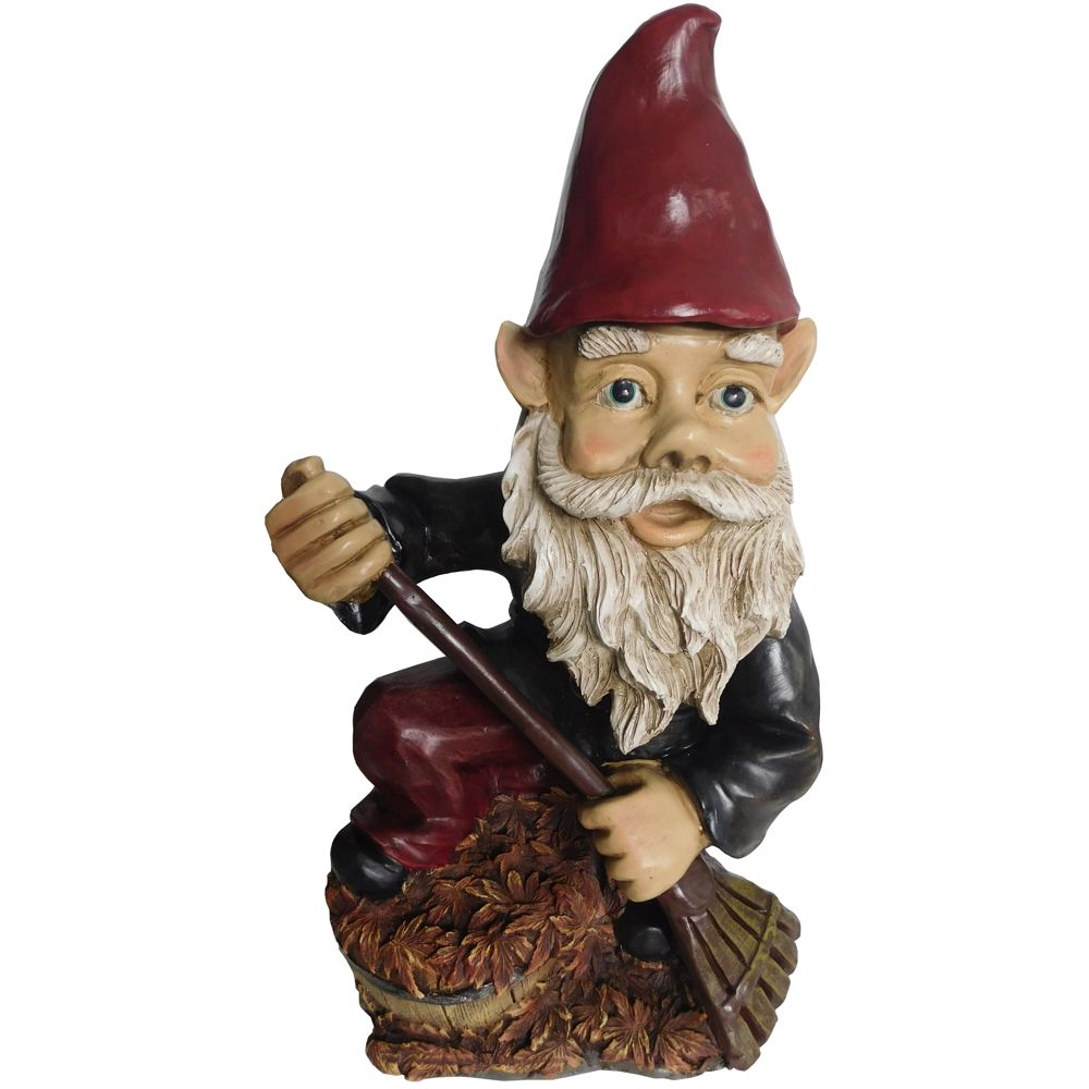 Gnome with Rake Statue