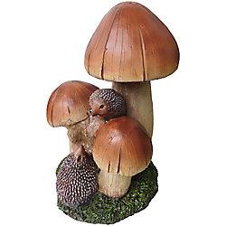 Angelo Décor Statue  hérissons aux champignons