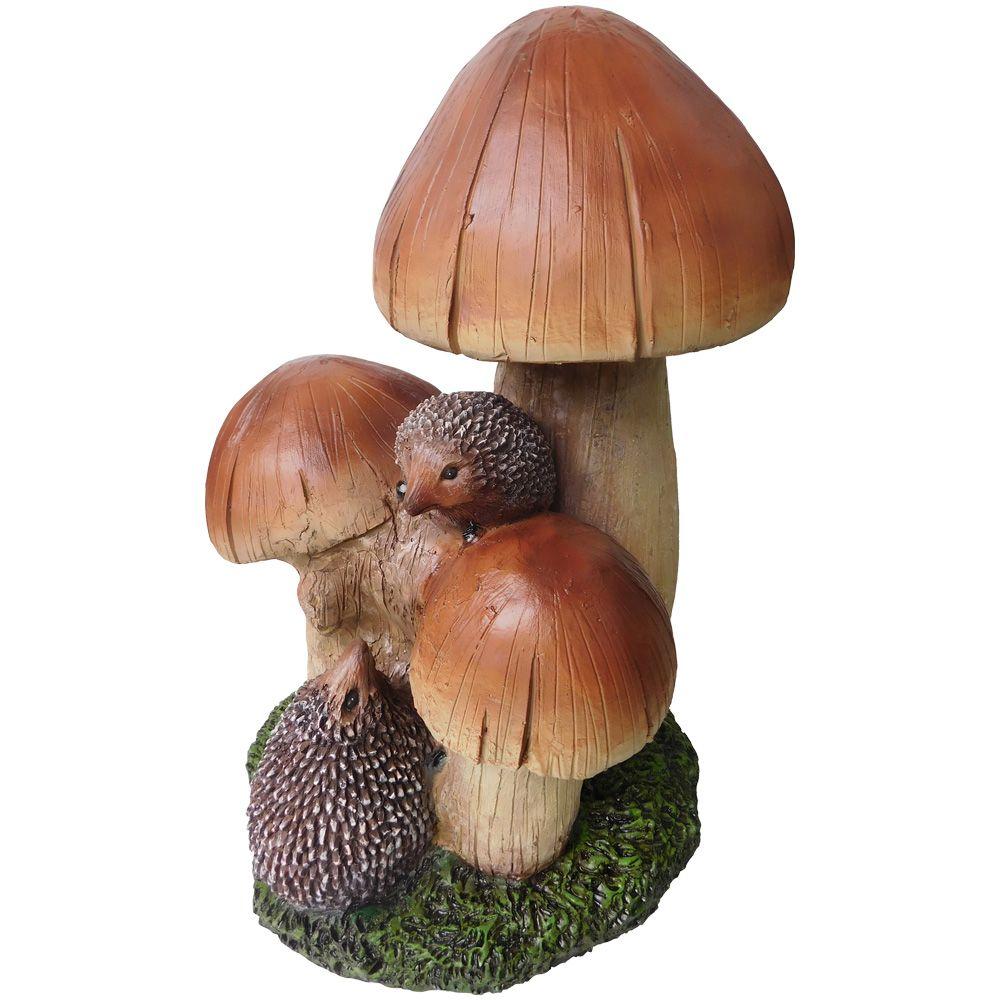 Angelo Décor Mushroom Hedgehogs Statue