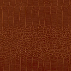 48 inch x 96 inch Recycled Leather Veneer Sheet in Chestnut  Crocodile