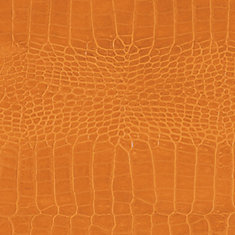 48 inch x 96 inch Recycled Leather Veneer Sheet in Toffee  Crocodile