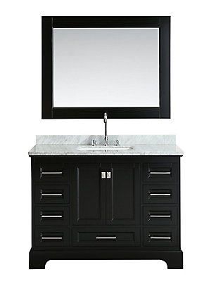 Design Element Omega 48 inch Single Vanity in Espresso with Matching on 48 bathroom towel bar, 48 bathroom vanity base only, 48 bathroom countertops, 48 bathroom wall tile, 48 bathroom rugs, 48 bathroom mirrors, 48 bathroom vanity white, avanity vanities, 48 bathroom lights,