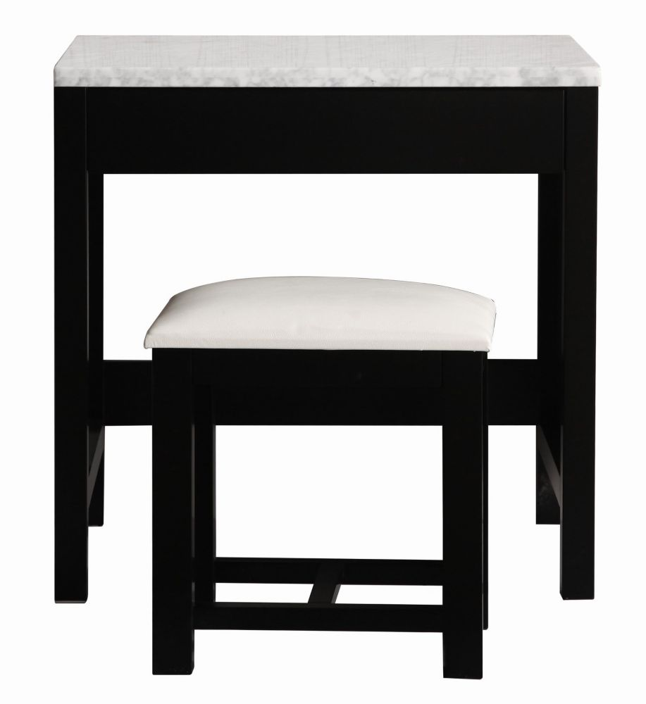 Design Element Make-up table and Stool in Espresso