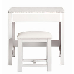 Design Element Make-up table and Stool in White