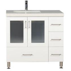 Design Element Westfield 36 po Meuble-Lavabo en Blanc