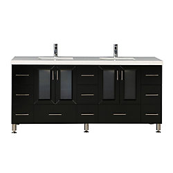 Design Element Westfield 72 inch Double Vanity in Espresso
