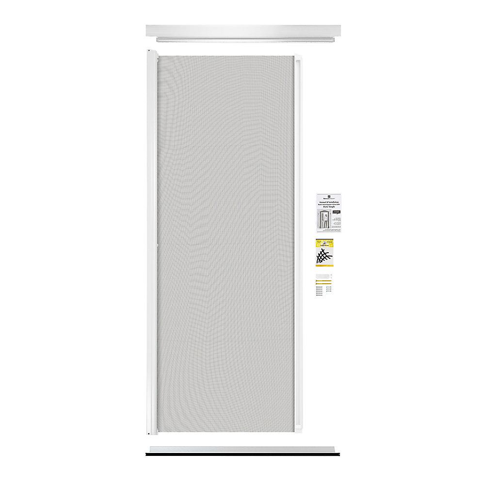 Retractable Screen Single Entrance Door White