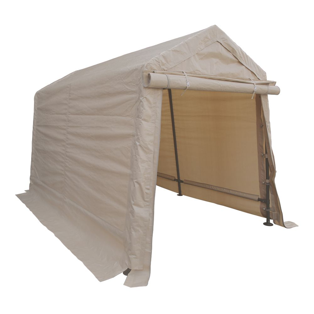 Impact Shelter Storage Shed 6 ft. x 8 ft. Tan Shelter