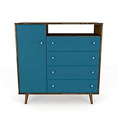 Buffet Liberty en brun rustique et bleu aqua