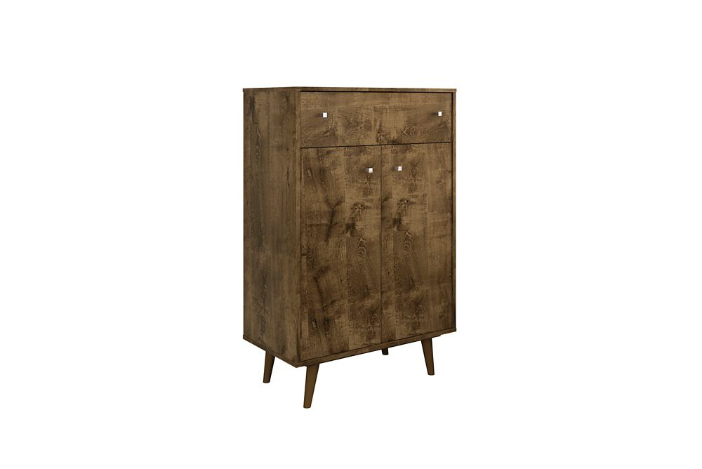 Manhattan Comfort Liberty Storage Cabinet in Rustic Brown