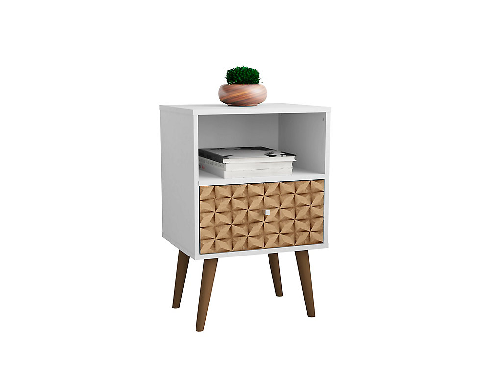 buy popular a5cfc 5fd6e Liberty Nightstand 1.0 in White and 3D Brown Prints