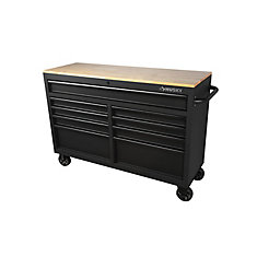 52 inch 9-Drawer Mobile Work Center - Textured Black