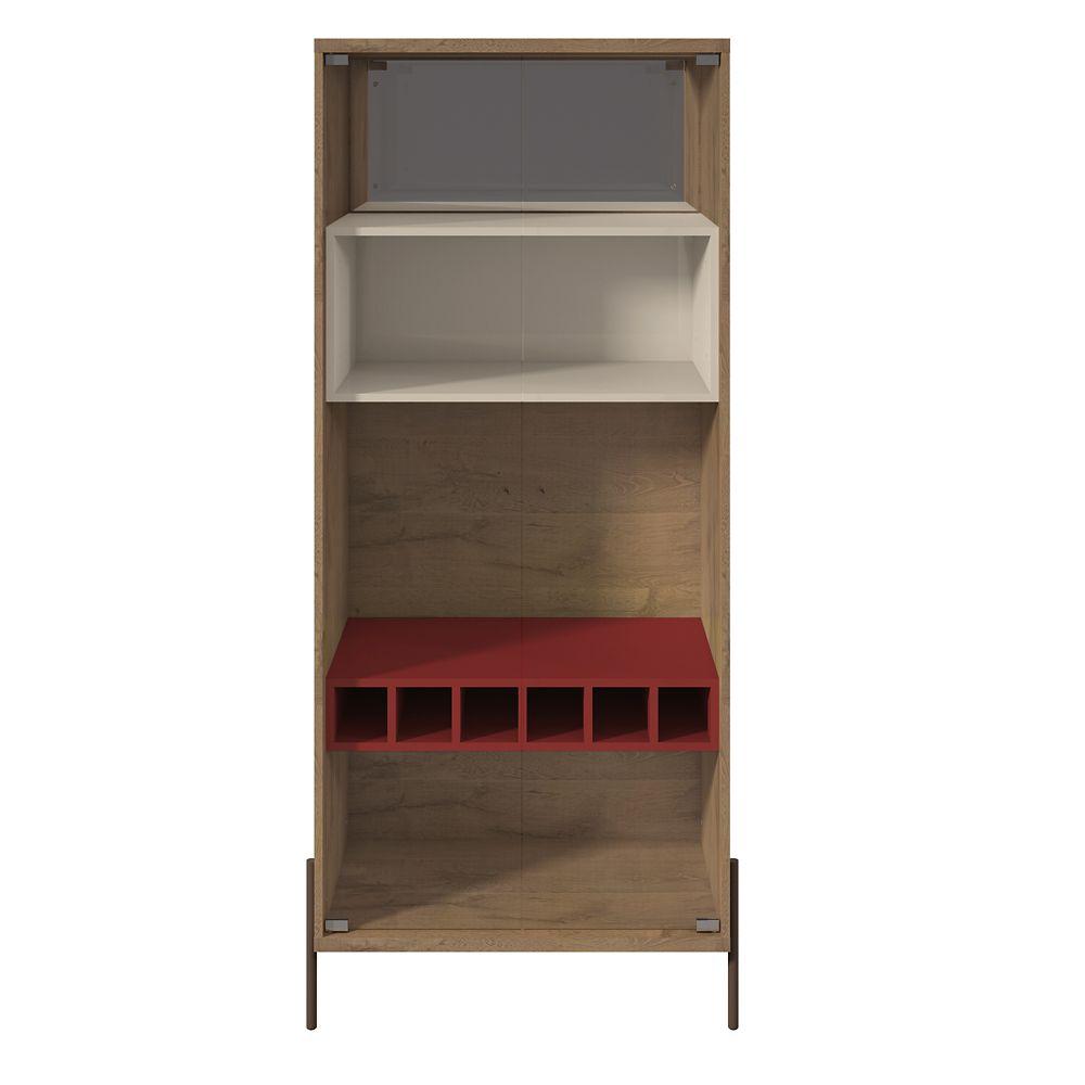 Manhattan Comfort Joy Wine Cabinet in Red