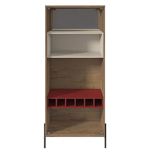 Manhattan Comfort Joy armoire à vin en rouge