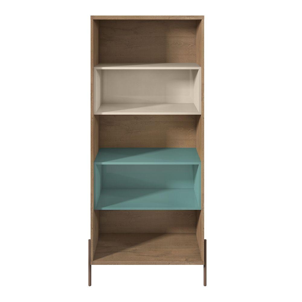 Manhattan Comfort Joy Bookcase in Blue