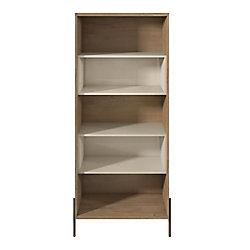 Manhattan Comfort Joy Bookcase in Off White