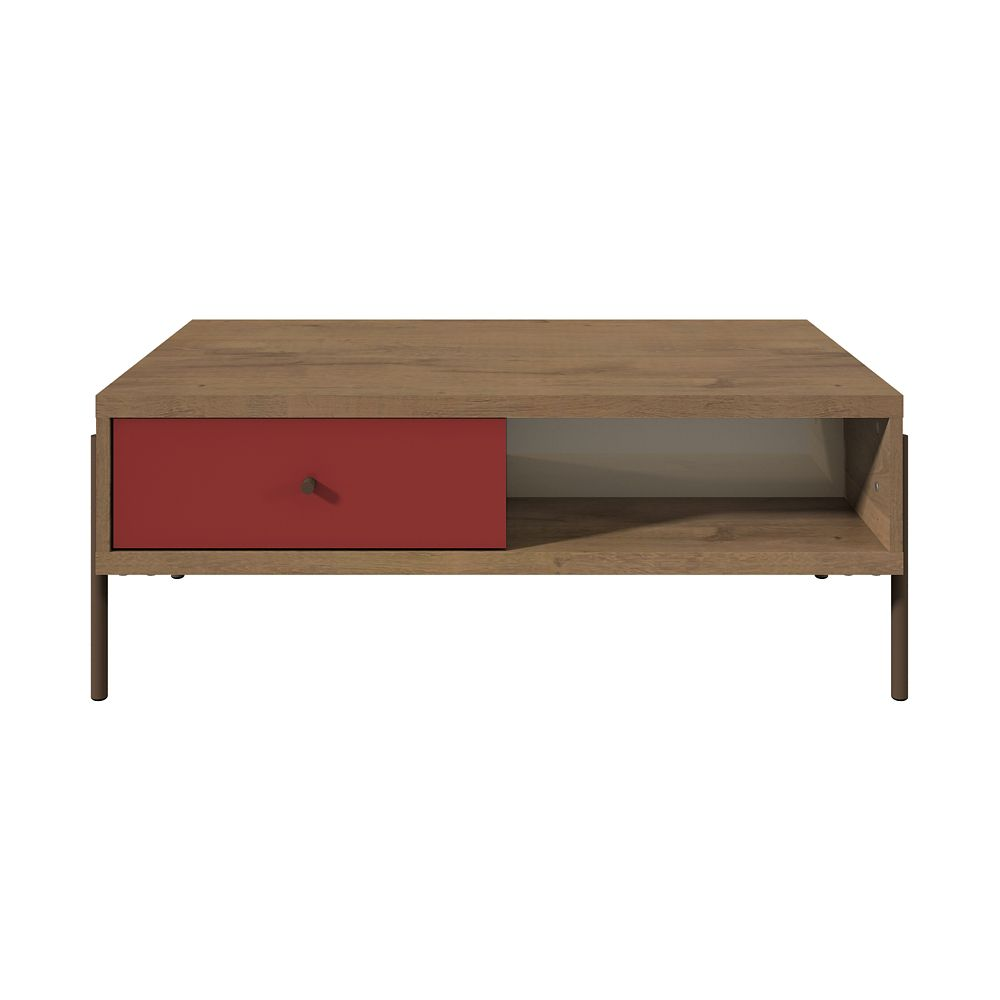 Manhattan Comfort Joy End Table in Red