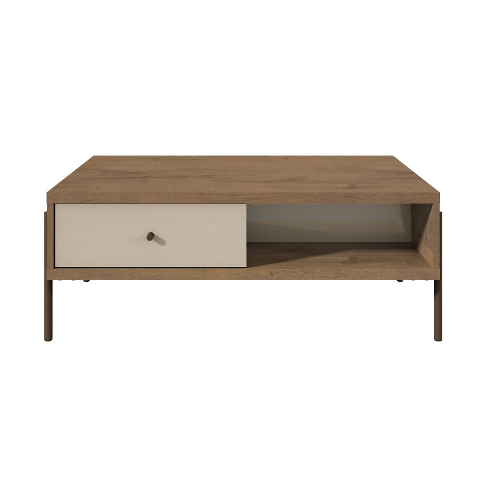 Manhattan Comfort Joy End Table in Off White