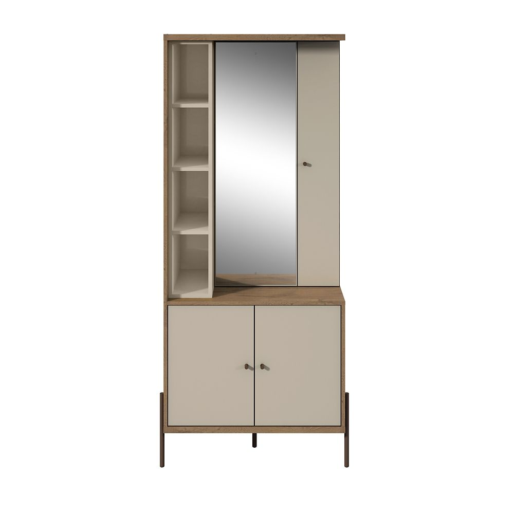 Manhattan Comfort Joy Vanity Closet in Off White