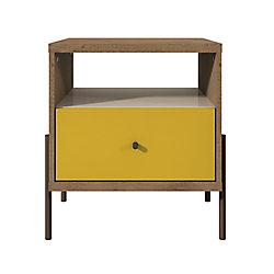 Manhattan Comfort Joy table de chevet en jaune
