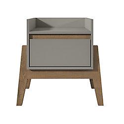 Manhattan Comfort Essence Table de chevet en gris