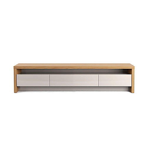 """Sylvan 70.86"""" TV Stand in Nature Wood and Off White"""