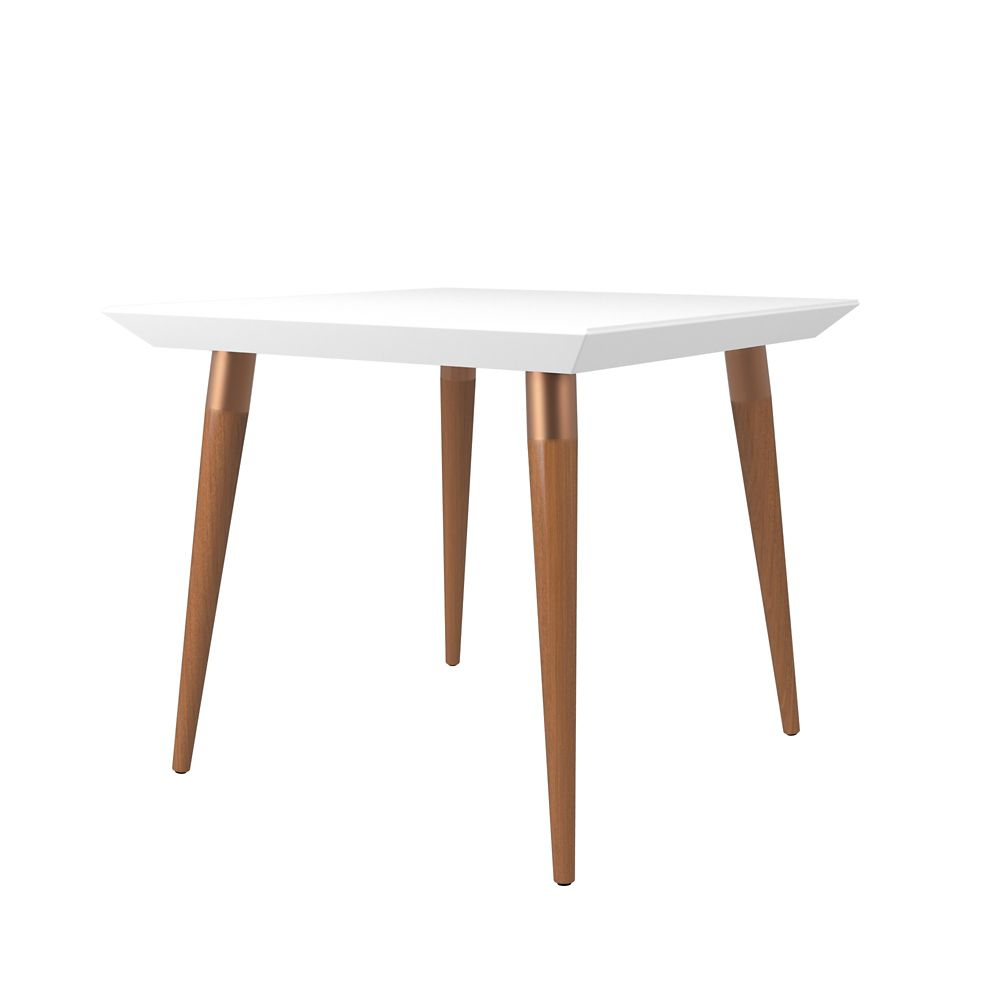 "Manhattan Comfort Utopia 35.43"" Square Dining Table in White Gloss"