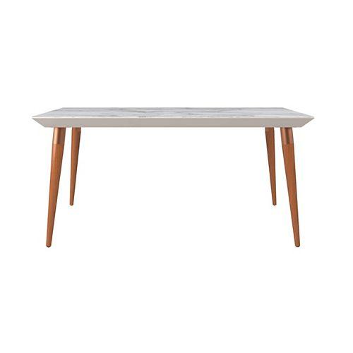 "Manhattan Comfort Utopia 62.99"" Dining Table in Off White"