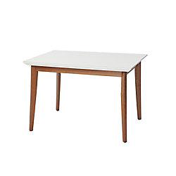 "Manhattan Comfort Lillian 45.66"" Dining Table in White Gloss"
