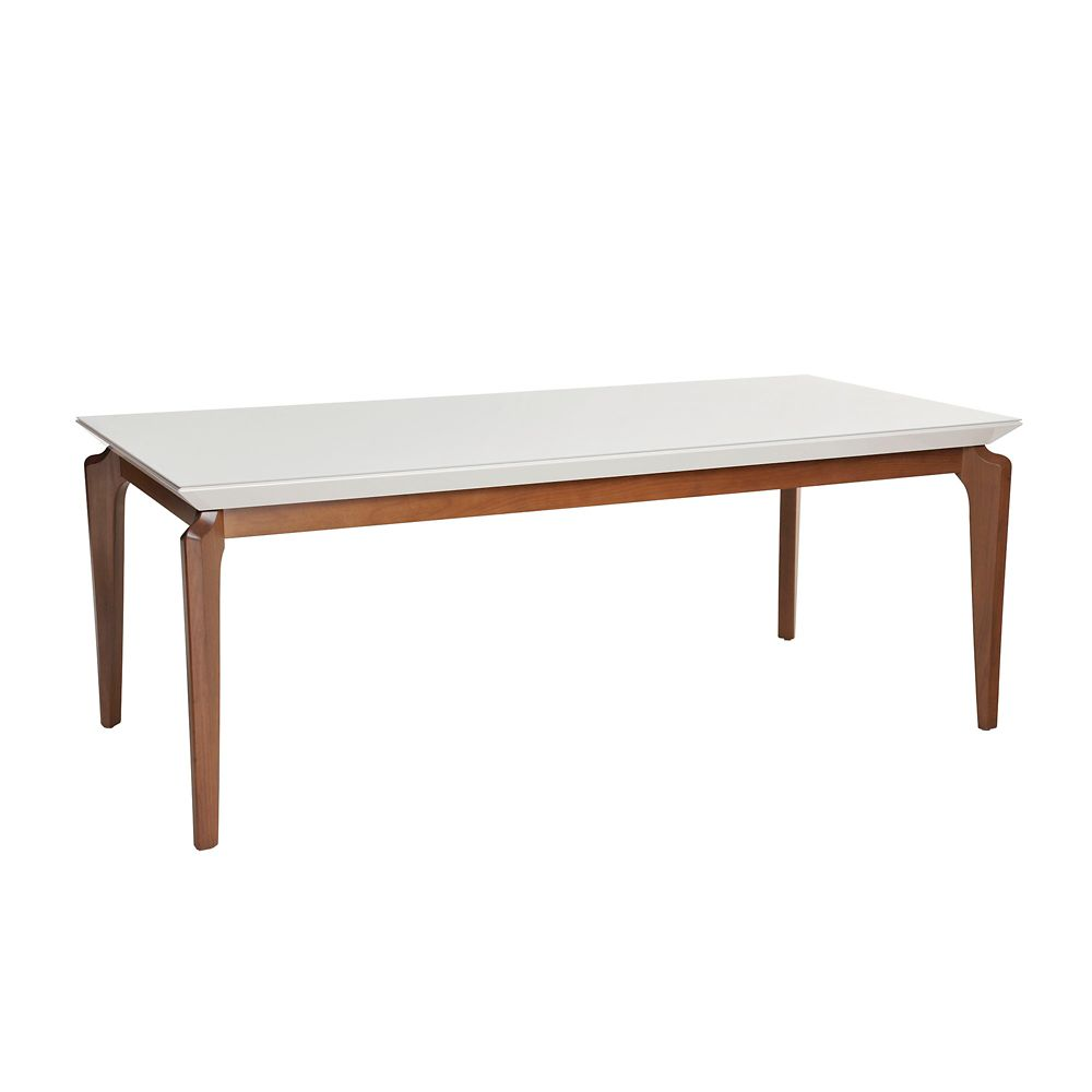 """Manhattan Comfort Payson 72.04"""" Dining Table in White Gloss"""