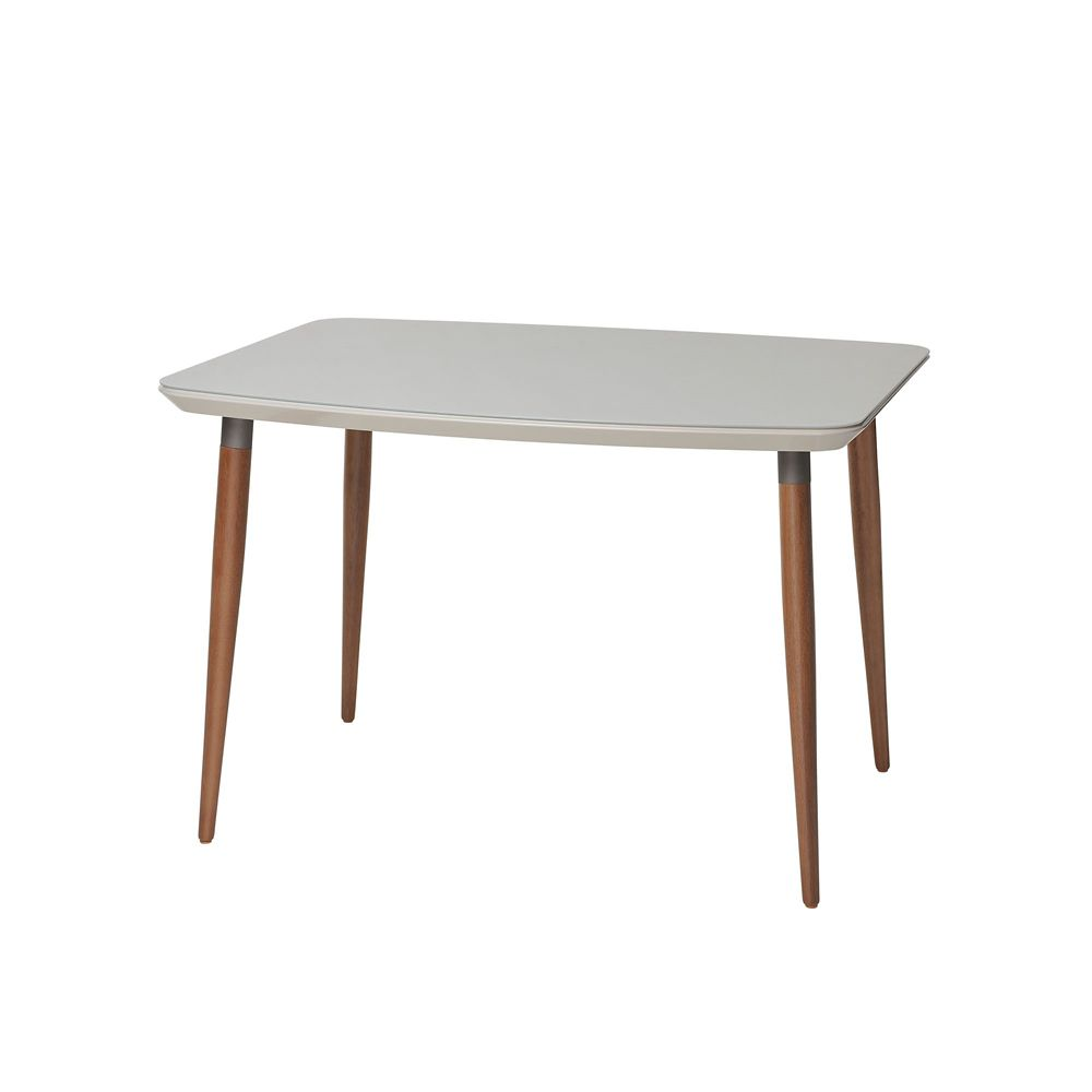 """Manhattan Comfort Charles 62.99"""" Dining Table in Off White"""