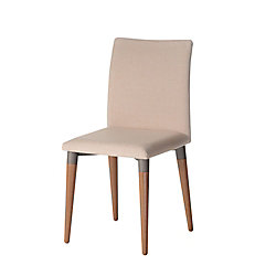 Manhattan Comfort Charles Dining Chair in Dark Beige