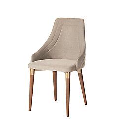 Manhattan Comfort Utopia 2.0 Dining Armchair in Dark Beige