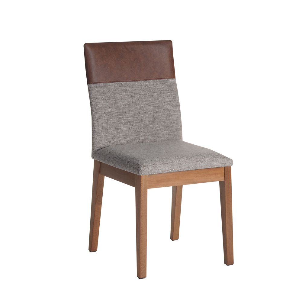 Manhattan Comfort Duke Dining Chair in Grey and Brown
