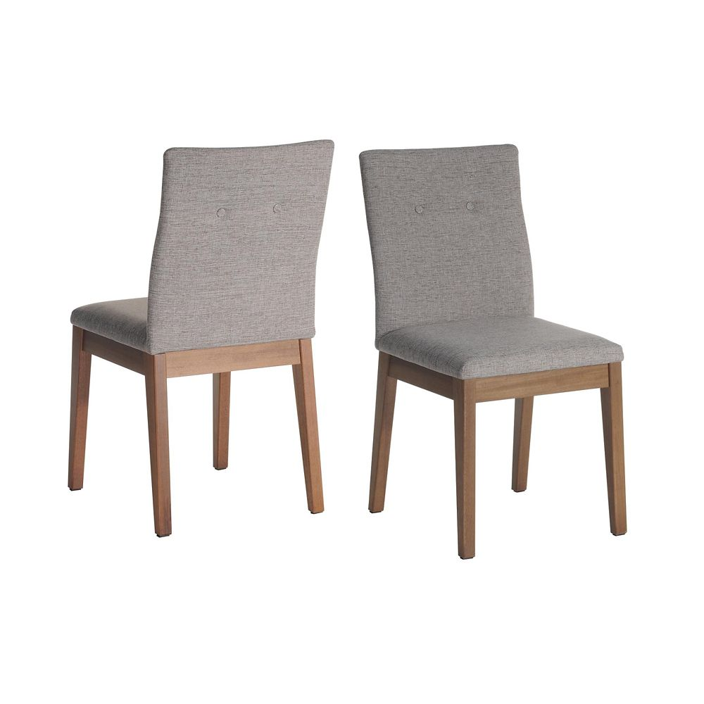 Manhattan Comfort Leroy Dining Chair in Grey (Set of 2)