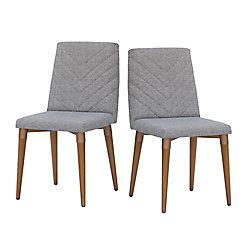 Manhattan Comfort Utopia Dining Chair in Grey (Set of 2)