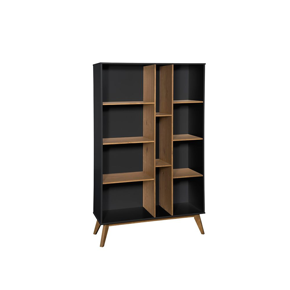 best website 546d3 cd19c Vandalia Bookcase in Dark Grey and Natural Wood