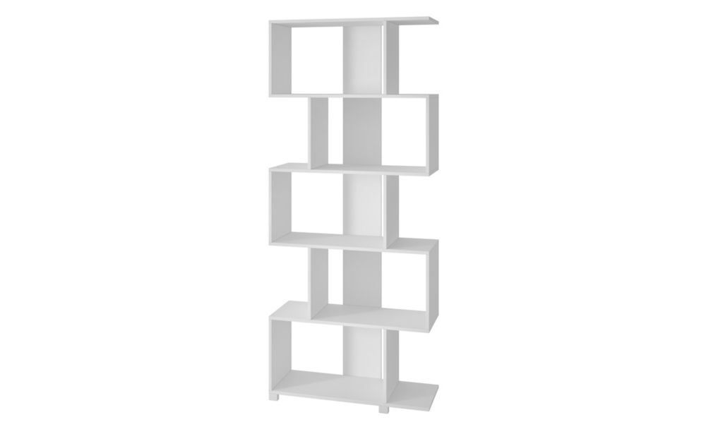 Accentuations by Manhattan Comfort Petrolina Z- Shelf  with  5 shelves in White