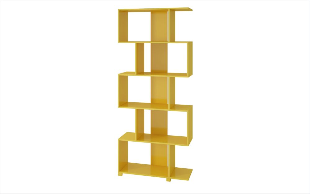 Accentuations by Manhattan Comfort Petrolina Z- Shelf  with  5 shelves in Yellow