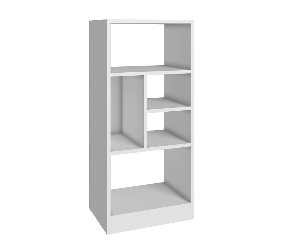 Accentuations by Manhattan Comfort Valenca Bookcase 2.0 with  5 shelves in White