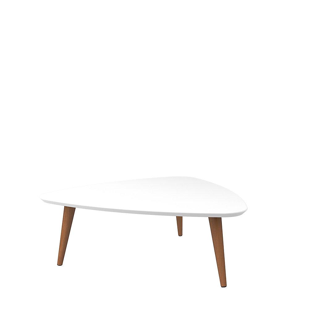 Utopia 11 81 Pouce Haut Table Basse A Triangle En Blanc Et Erable