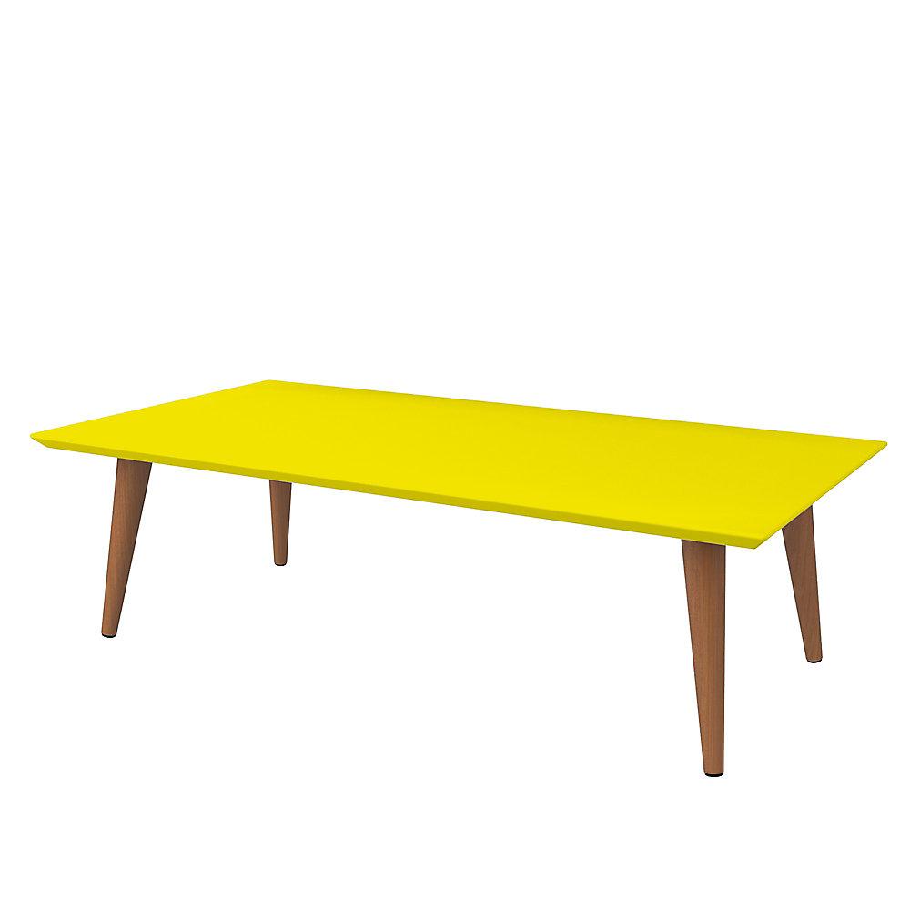 Utopia 11.81 pouce haut rectangle Table basse à en jaune