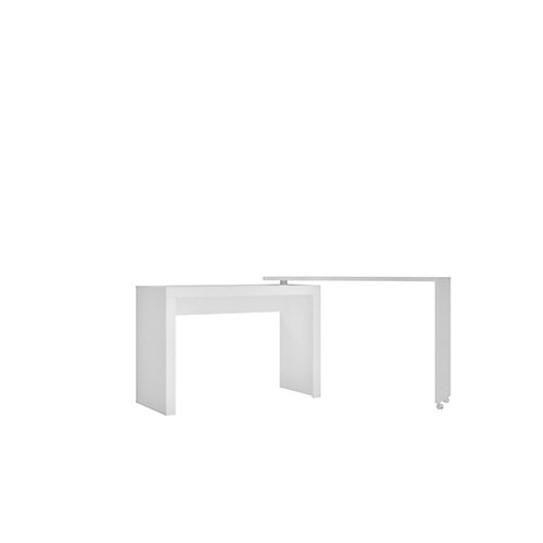 Calabria Nested Desk  with swivel feature in White