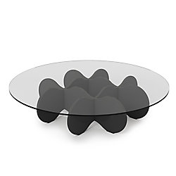 Manhattan Comfort Waverly Table basse en verre de 28 pouces en noir