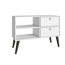 Accentuations by Manhattan Comfort Dalarna TV Stand  with  2 shelves in White