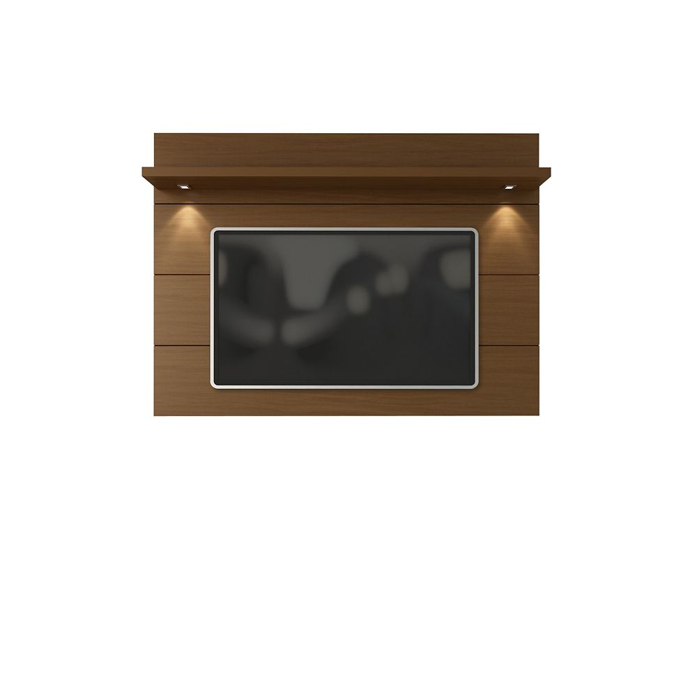 Manhattan Comfort Cabrini Floating Wall TV Panel 2.2 in Nut Brown