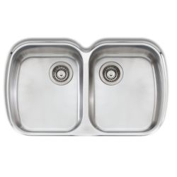 Wessan Stainless Steel Double Bowl Undermount Sink - 32.25 inch x 19.75 inch x 8 inch